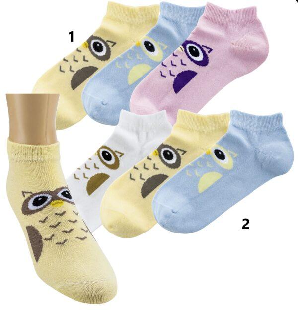 Bombažne nogavice stopalke OWL 1