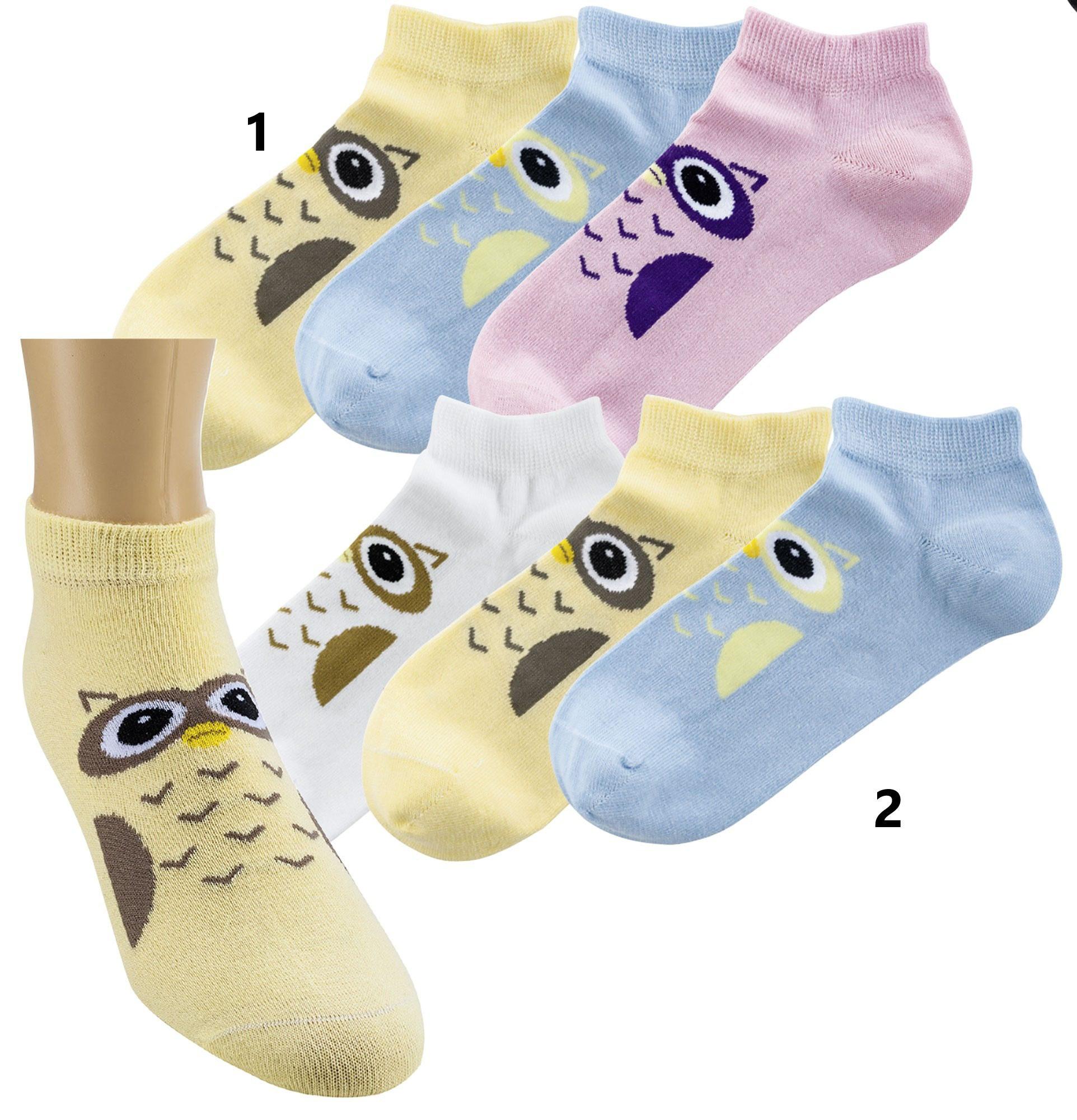 Bombažne nogavice stopalke OWL 2