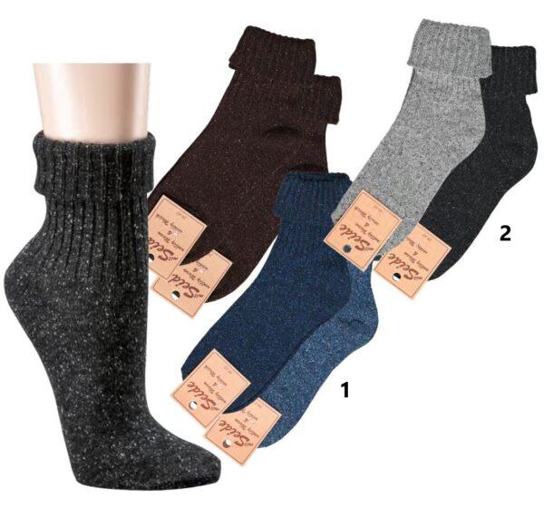Ženske volnene nogavice VOLNA - SVILA 1